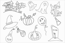 Halloween Scary Castle And Ful...