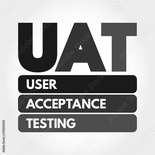 UAT - User Acceptance Testing acronym, technology concept background Canvas Print
