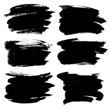Abstract Black Thick Smear Of ...