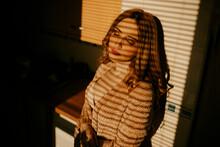 Portrait Of Beautiful Blond Wo...