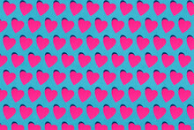 Seamless Pattern Of Pink Paper...
