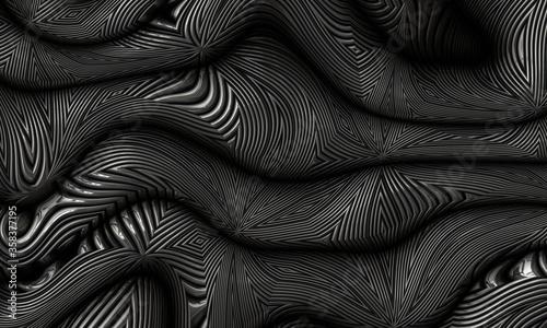 Obraz na plátne abstract structured strange metal steel