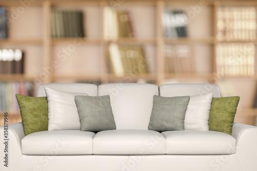 Bookshelf. Wallpaper Mural