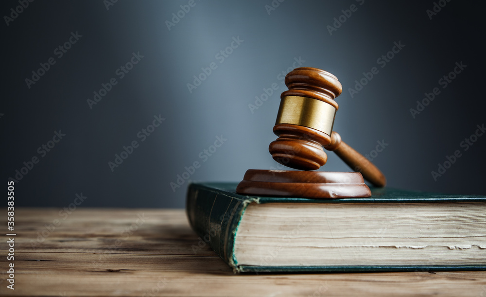 Fototapeta judge on the book