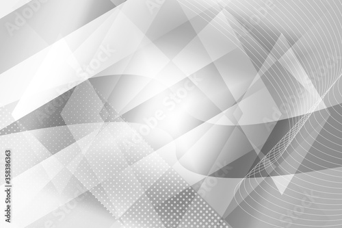 Fotografiet abstract, 3d, white, design, cube, pattern, illustration, business, blue, concep