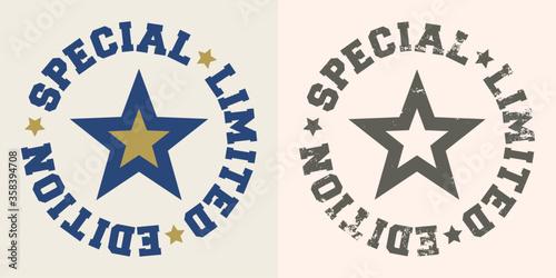 Fotografía Special limited edition stamp with star. Vector illustration