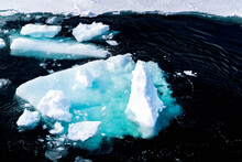 Ice Landcape On The Water In A...