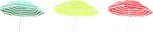 Sun Umbrella Set. Striped Beac...