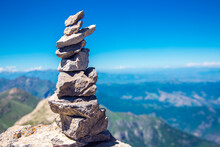 Balanced Stone Tower On The Gr...