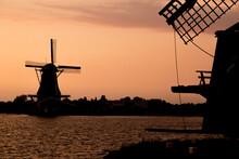Dutch Windmill Silhouette Next...
