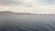 Eilat, Israel - Walk on the sea on a tourist ship before the rain part 5 4K