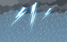 Unwettern, Gewitter, Regen, Bl...