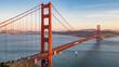 Golden Gate Bridge With Sail Boat