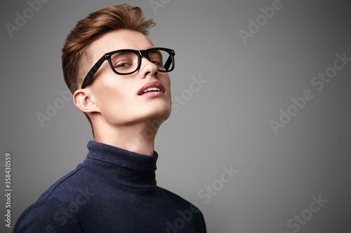 Fototapeta student in glasses