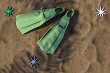 3d Rendering Of Summer Concept...