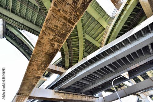 Fototapeta 阪神高速の北港ジャンクション