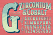 An Ornate Alphabet in a Circus or Carnival Sign Painter Style