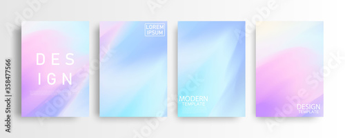 Obraz Abstract mockup Pastel colorful gradient background A4 concept for your graphic colorful design, Layout Design Template for Brochure - fototapety do salonu