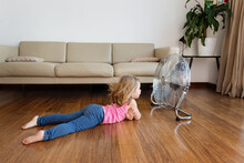 Little Girl Lying By Electric ...