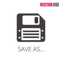 Vector EPS 10 Save Icon. Flopp...