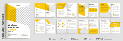 Cuadros en Lienzo Corporate multipage brochure template layout design, minimalist multipage business brochure design