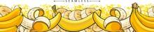 Yellow Banana Seamless Pattern...