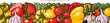 Seamless pattern with tomato, pepper and garlic vector illustration isolated.