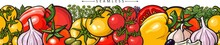 Seamless Pattern With Tomato, ...