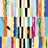 abstract background composition, with strokes, splashes and stripes