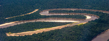 It's Air View Of The Amazon Part Of The River