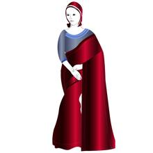 Indian Saree Dress Vector Illustration