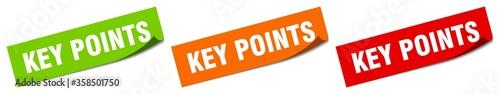 Fototapeta key points sticker. key points square isolated sign. key points label obraz
