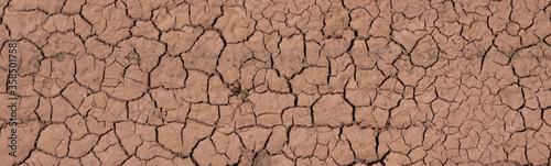 Photo Panorama Risse im Boden Klimawandel Trockenheit