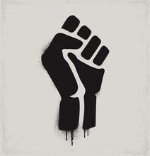 Fist Raised In Protest