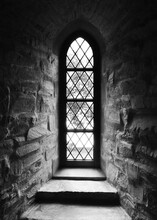 High Contrast Church Window In...