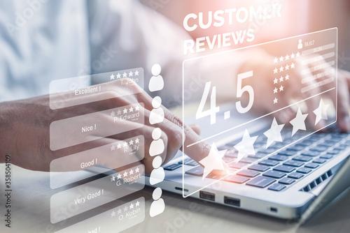 Fotografie, Obraz Customer review satisfaction feedback survey concept.