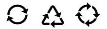 Recycling Icon Set. Illustration