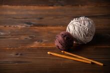 Yarn Balls And Crochet Needles...