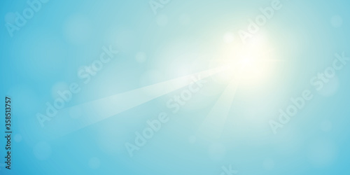 Photo blue sunny sky summer background with copy space vector illustration EPS10