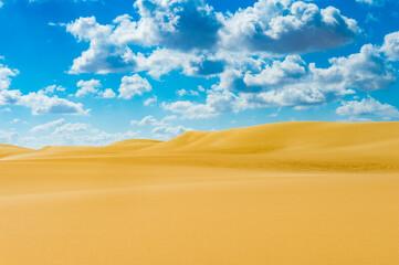 It's Dunes in the Sahara desert in Egypt