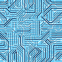 Circuit Board Seamless Pattern...