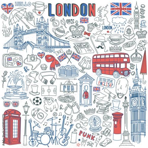 Photo London doodle set