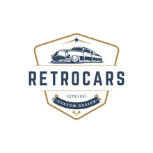 Hot Rod Car Logo Template Vect...