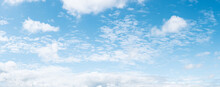 Panoramic Blue Sky Background ...