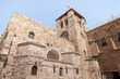 The Church of the Holy Sepulchre building in the old city of Jerusalem, Israel