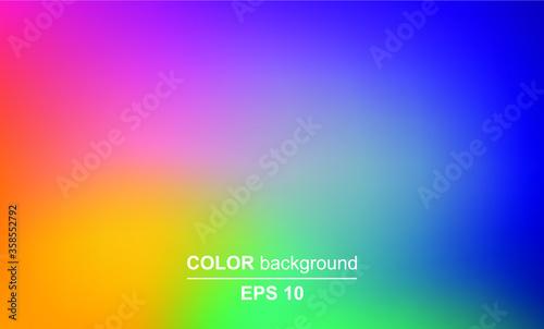 Abstract blurred gradient mesh background in bright summer colors Tapéta, Fotótapéta