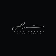 AA Initials Signature Logo. Handwriting Logo Vector Templates. Hand Drawn Calligraphy Lettering Vector Illustration.