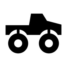 Stylized Simple Monster Truck ...
