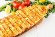 Turkish Pizza With Mixed Cheese And Herbs