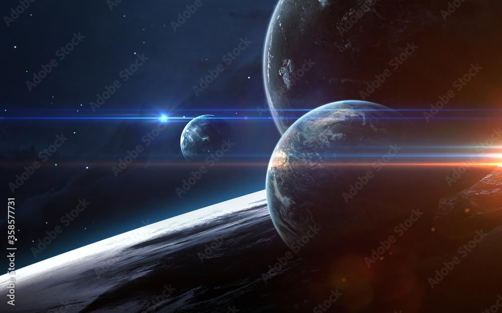 Fototapeta Universe scene with planets